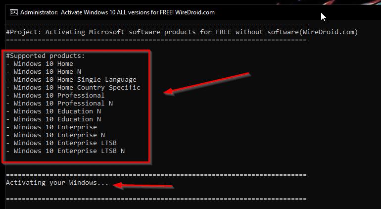 Free Activate Windows 10 Using Batch File Windows 10 Product Key Free