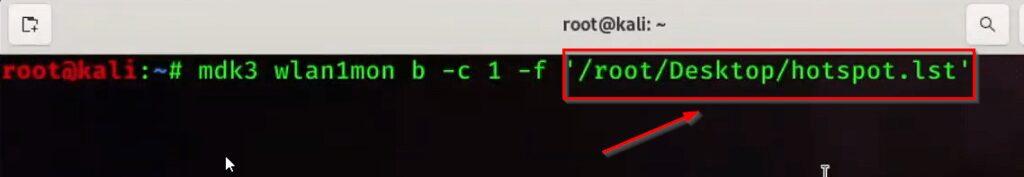 Create fake wifi networks