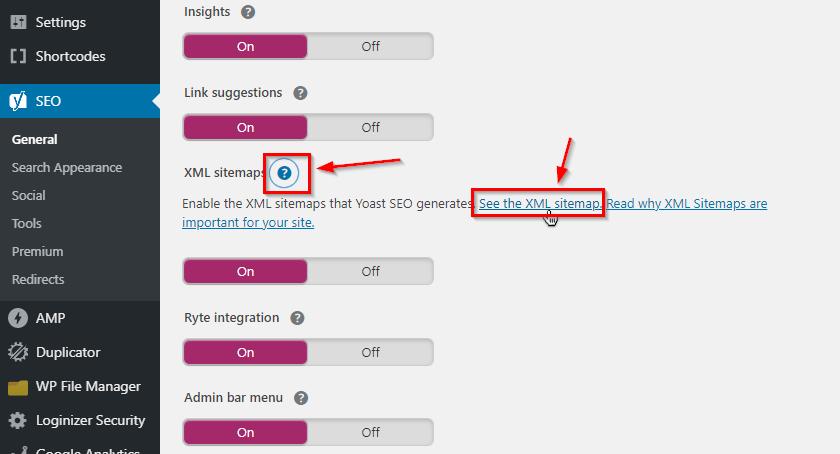WordPress sitemap URL