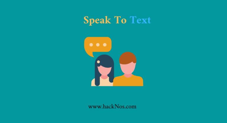 speak to text