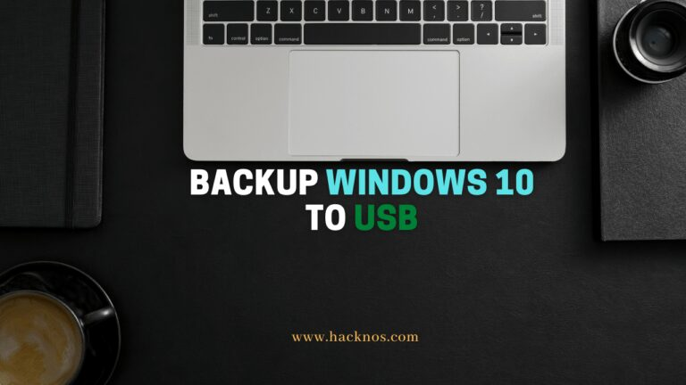 Backup Windows 10 to USB