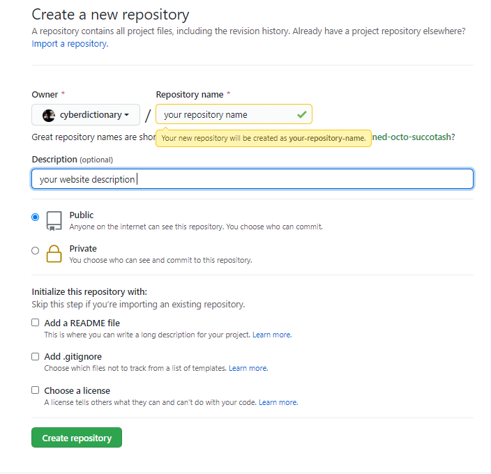 Create a GitHub account