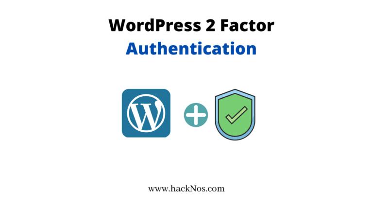 wordpress 2 factor Authentication