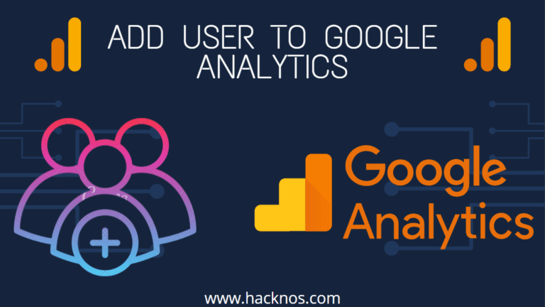 Add User to Google Analytics