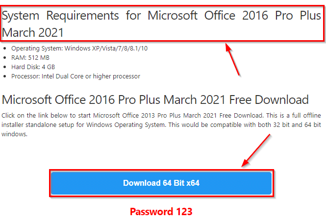 Microsoft Office 2016 Free Download Full Version For Windows 10