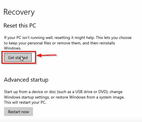 Reset Windows Without Losing Data