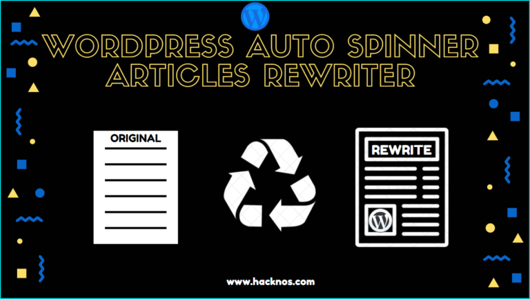 WordPress Auto Spinner Articles