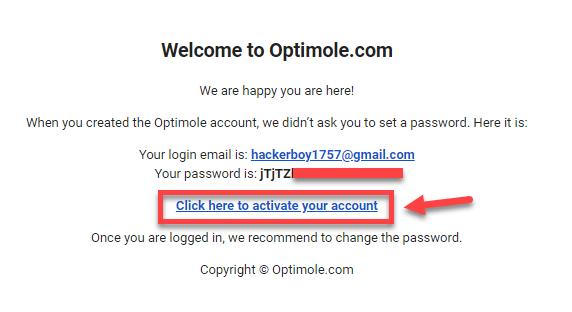 Create Optimole Account Free