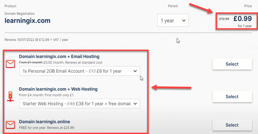 cheapest domain registration