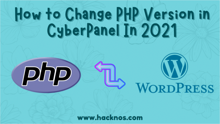Change PHP Version in CyberPanel