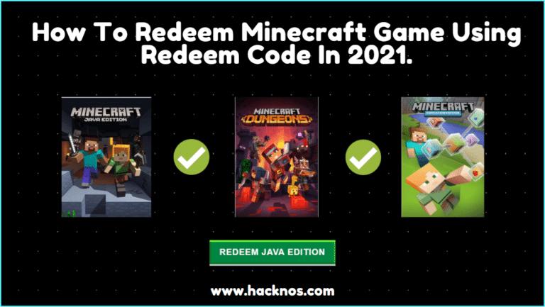 Redeem Minecraft Game Using Redeem Code