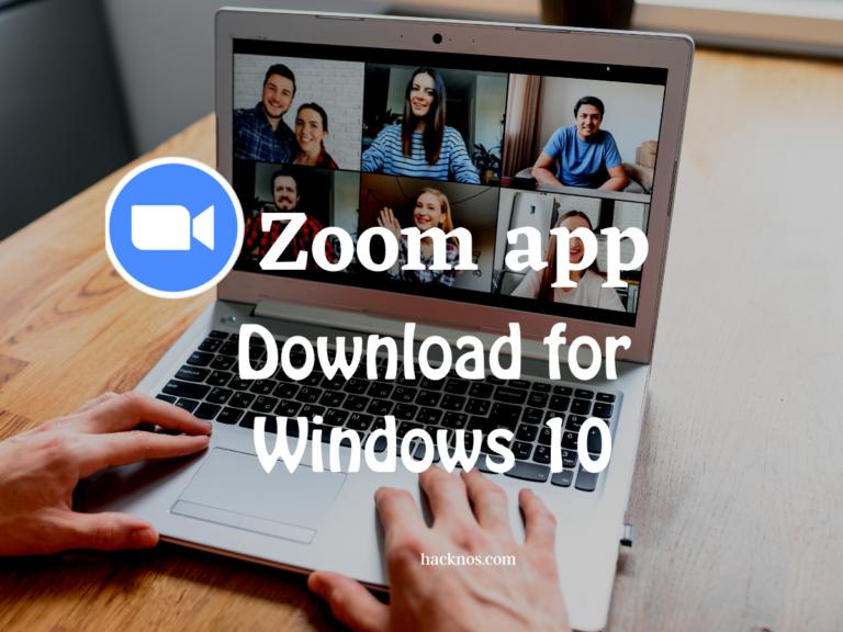 Zoom app download for windows 10