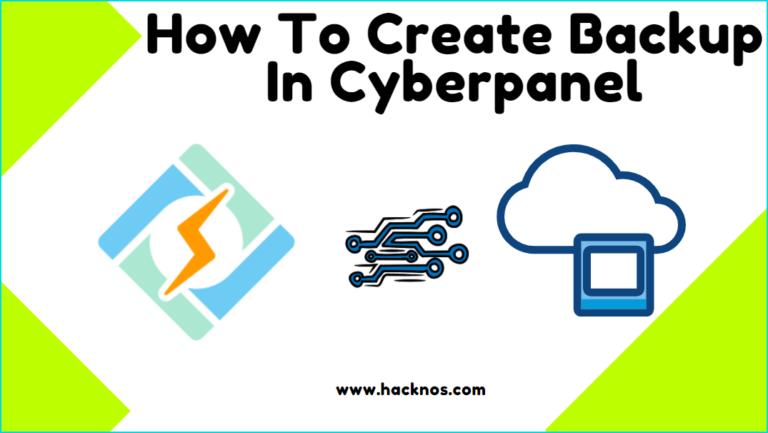 Create Backup In CyberPanel
