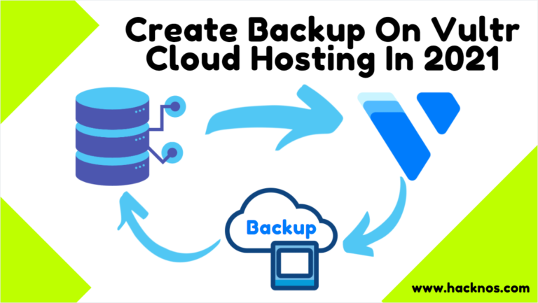 Create Backup Vultr Cloud Hosting